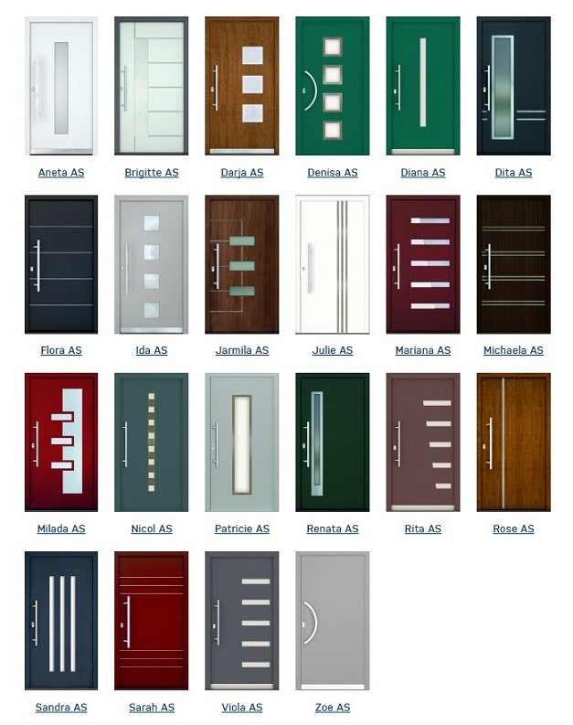 Hliníkové dveře řada ALU SMART