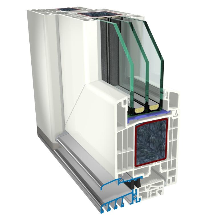 Vchodové dveře GEALAN S 9000 | ALU PLAST KAPLICE