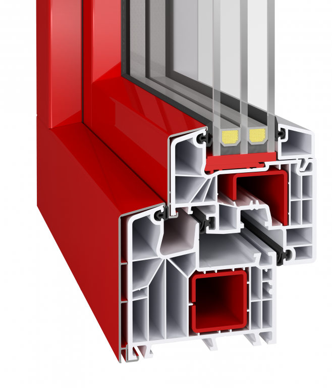 Profil aluplast ideal 8000 mit alu vorsatzschale alu for Alu kunststofffenster